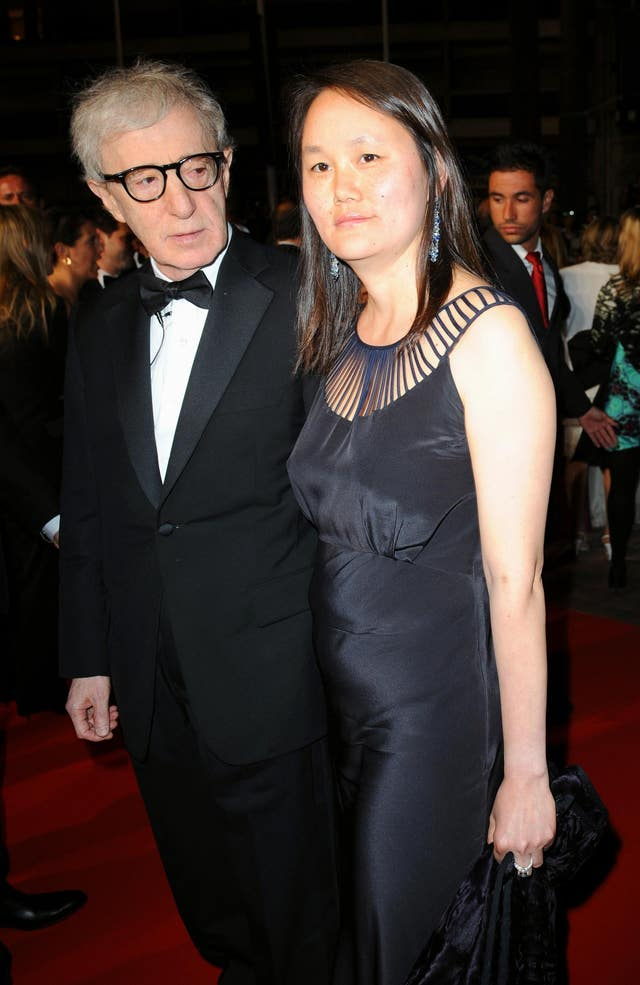 Woody Allen and his wife Soon-Yi Previn