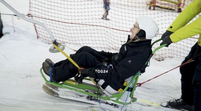 Robert Trulocke takes to the slopes