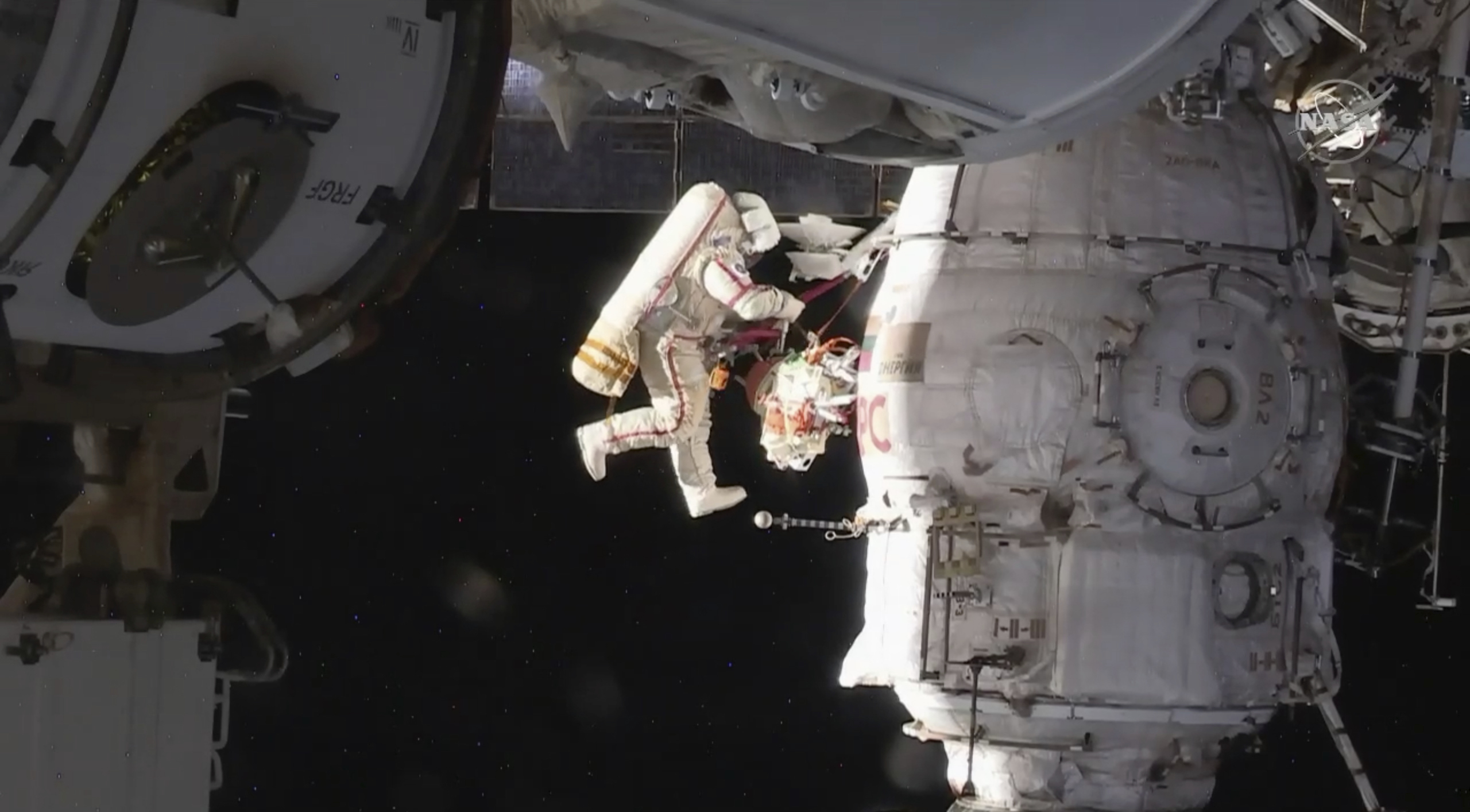 Cosmonauts to examine mystery hole on ISS spacewalk