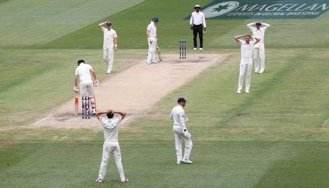 England's hopes of victory were hampered by the weather and the pitch in Melbourne