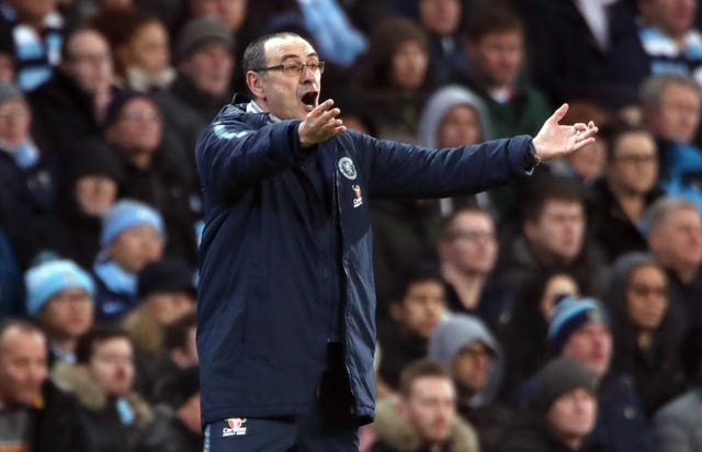 Chelsea manager Maurizio Sarri was frustrated