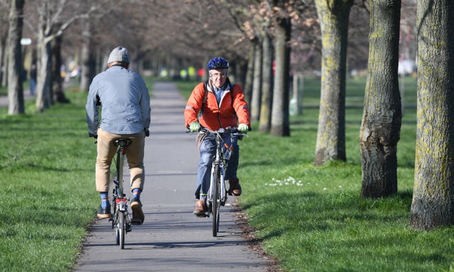 Cyclists have been out and about across the country