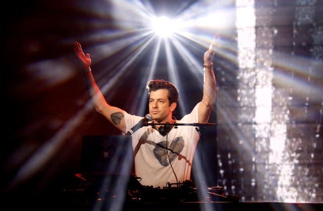 Mark Ronson performs on stage during the Global Awards