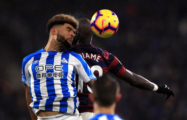 Phil Billing in action for Huddersfield against Newcastle earlier this season