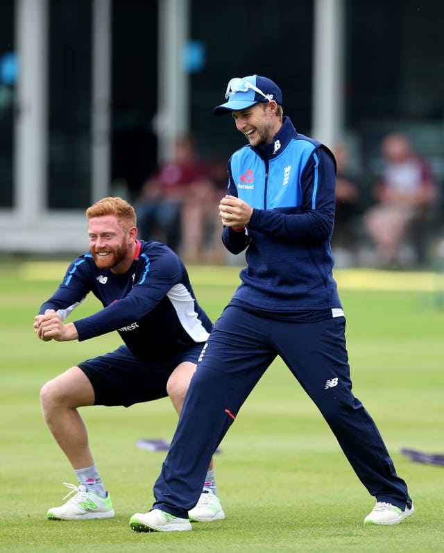 Joe Root (right) was just one day behind Bairstow (left) in terms of days played for England.