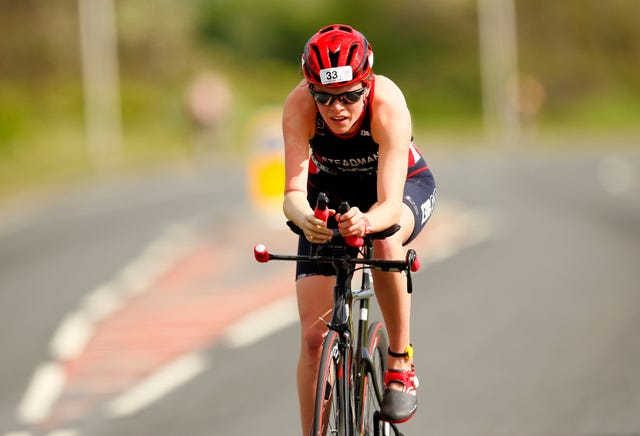 Lauren Steadman competing