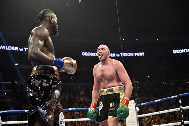 Deontay Wilder, left, put Tyson Fury down twice in the original bout