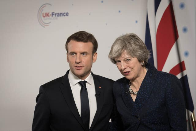 Prime Minister Theresa May will join French President Emmanuel Macron in remembrance of the First World War dead (Stefan Rousseau/PA)