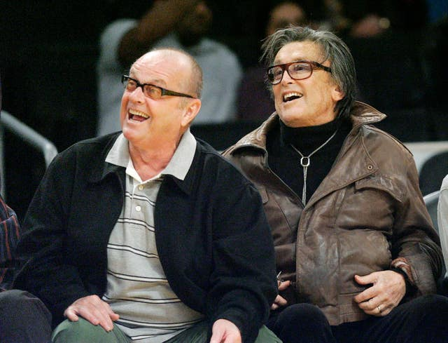 Producer Robert Evans alongside actor Jack Nicholson (Kevork Djansezian/AP)