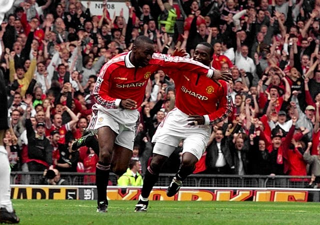 Dwight Yorke and Andy Cole, left, enjoyed a fine strike partnership