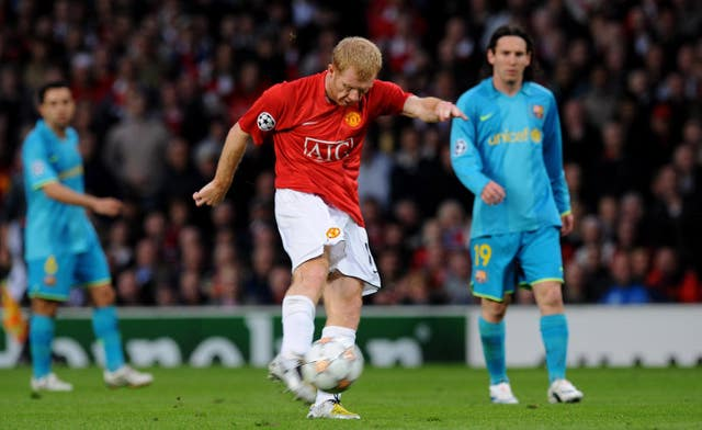 Paul Scholes' stunning Manchester United goal sent his side to the Champions League final