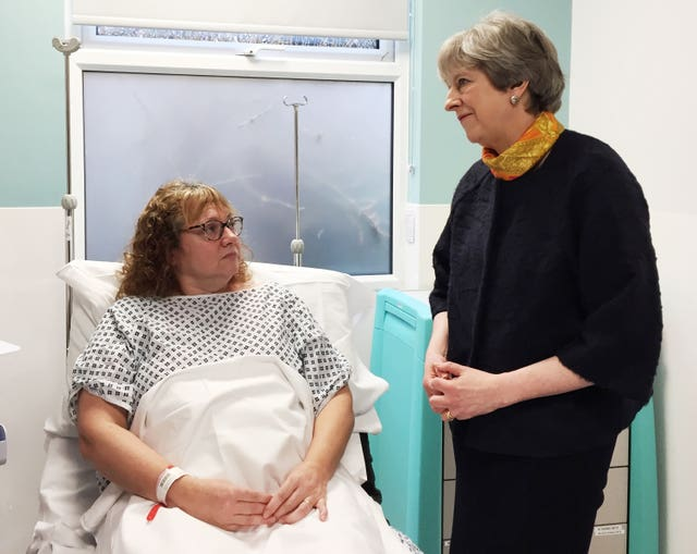 May visit to Frimley Park Hospital