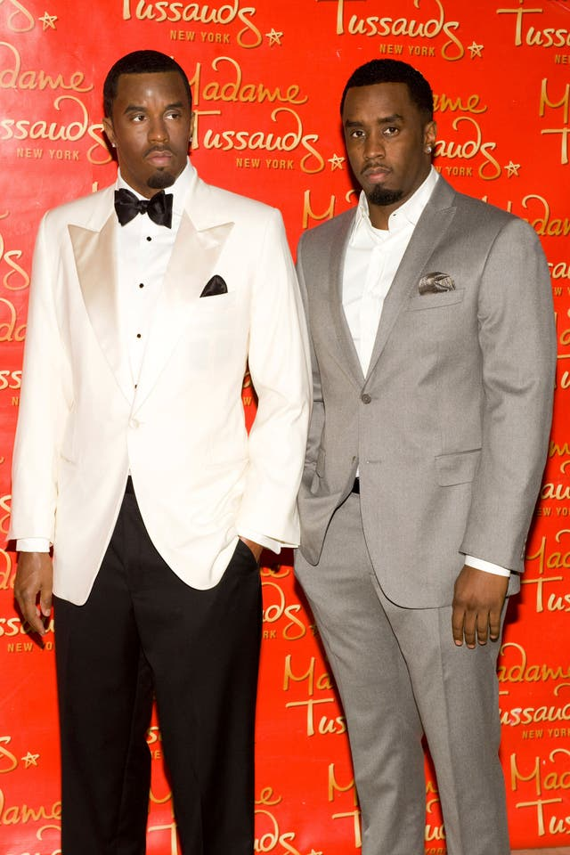 Sean 'Diddy' Combs unveiling his wax figure at Madame Tussauds in New York in 2009