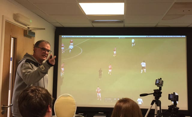 Marcelo Bielsa gave a PowerPoint presentation to the media after admitting to spying on his rivals