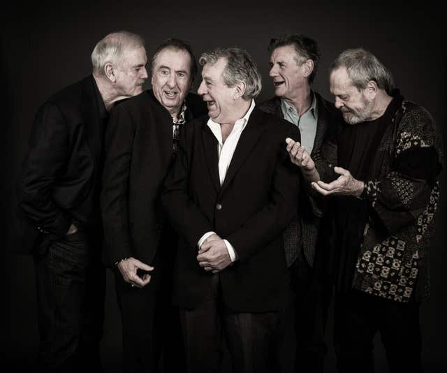 Undated handout photo issued by Python (Monty) Pictures Ltd of (left to right) John Cleese, Eric Idle, Terry Jones, Michael Palin and Terry Gilliam (Andy Gotts)