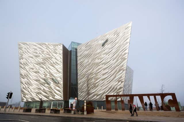 The Titanic Exhibition Centre in Belfast (Liam McBurney/PA)