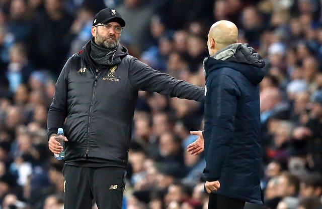 Pep Guardiola admits the rivalry between him and Jurgen Klopp has some way to go before it can compare to that of Sir Alex Ferguson and Arsene Wenger