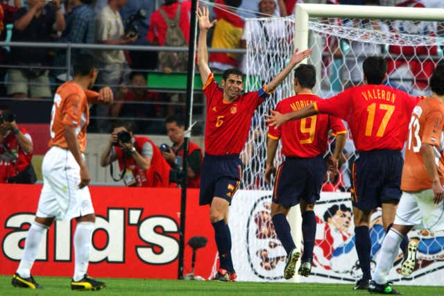 Hierro hit 29 goals during his international career - being a penalty expert helped