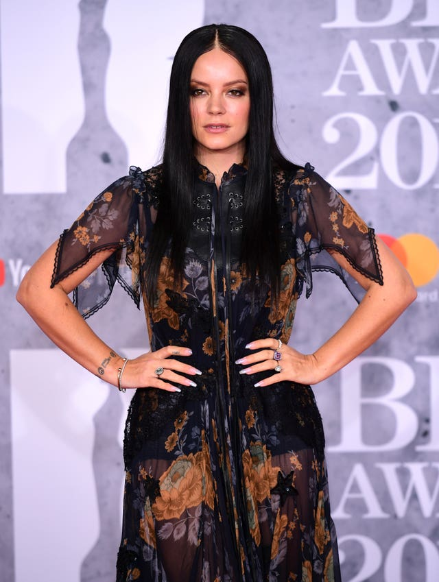 Lily Allen on the Brits red carpet