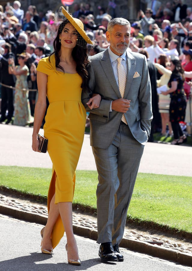 Amal Clooney with actor husband George Clooney at Royal wedding