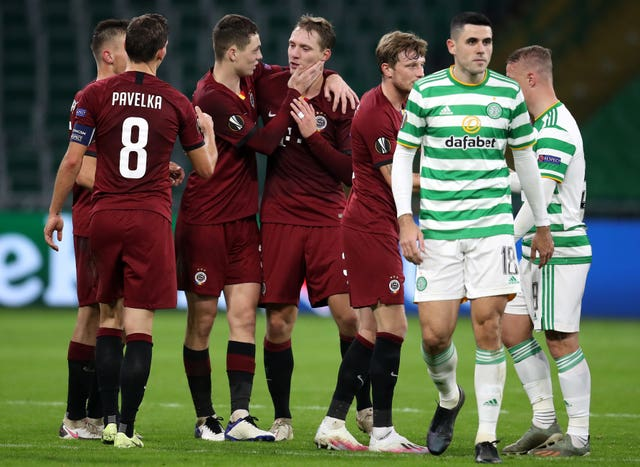 Sparta Prague won 4-1 at Celtic earlier this month (Andrew Milligan/PA).