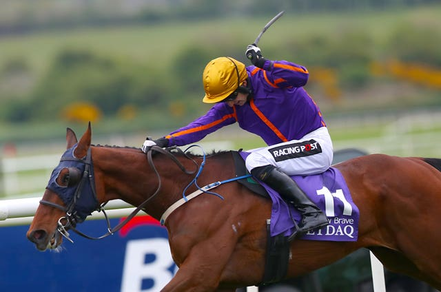 Wicklow Brave on his way to winning last year's Punchestown Champion Hurdle