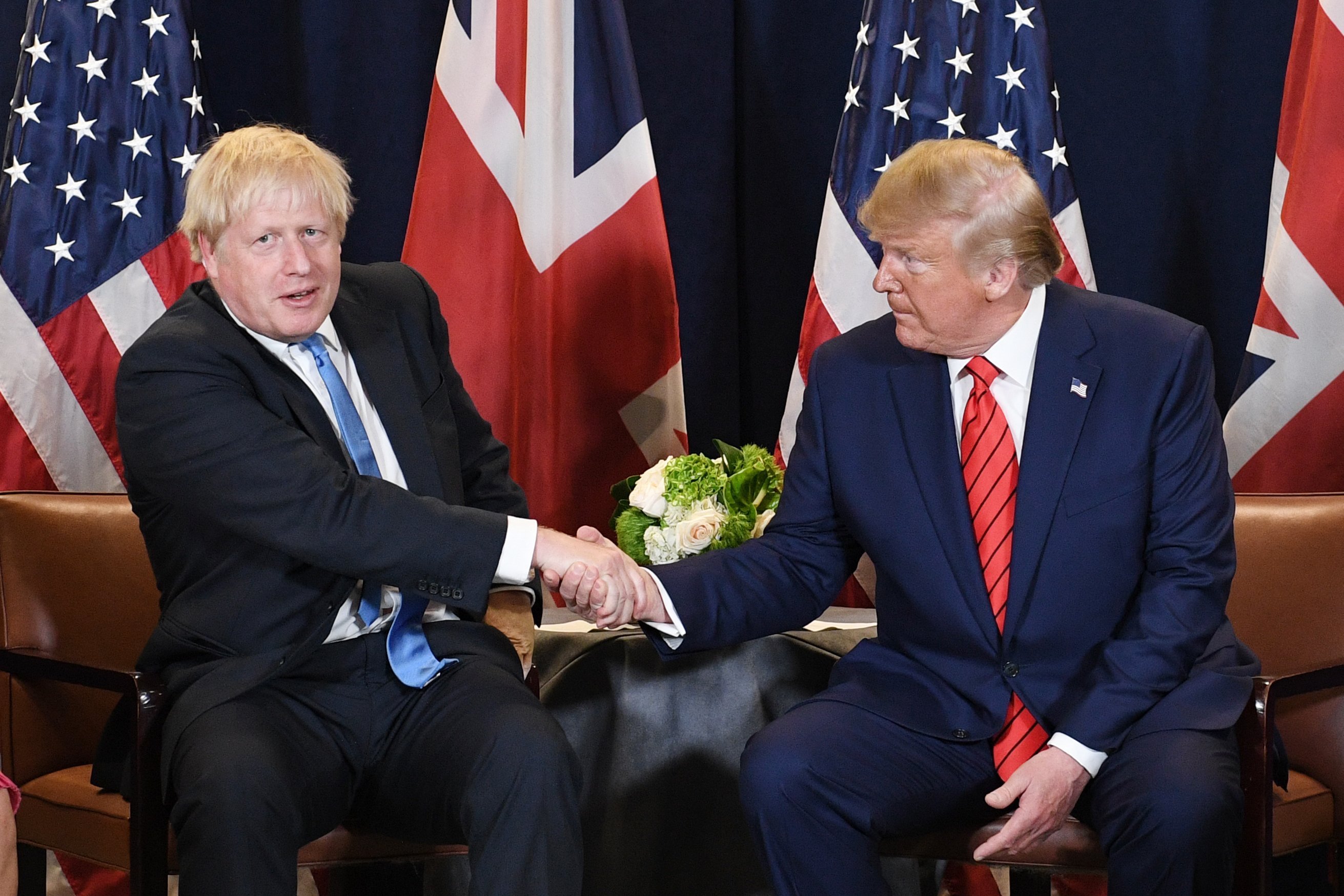 Trump Holds Private Meeting with UK's Boris Johnson