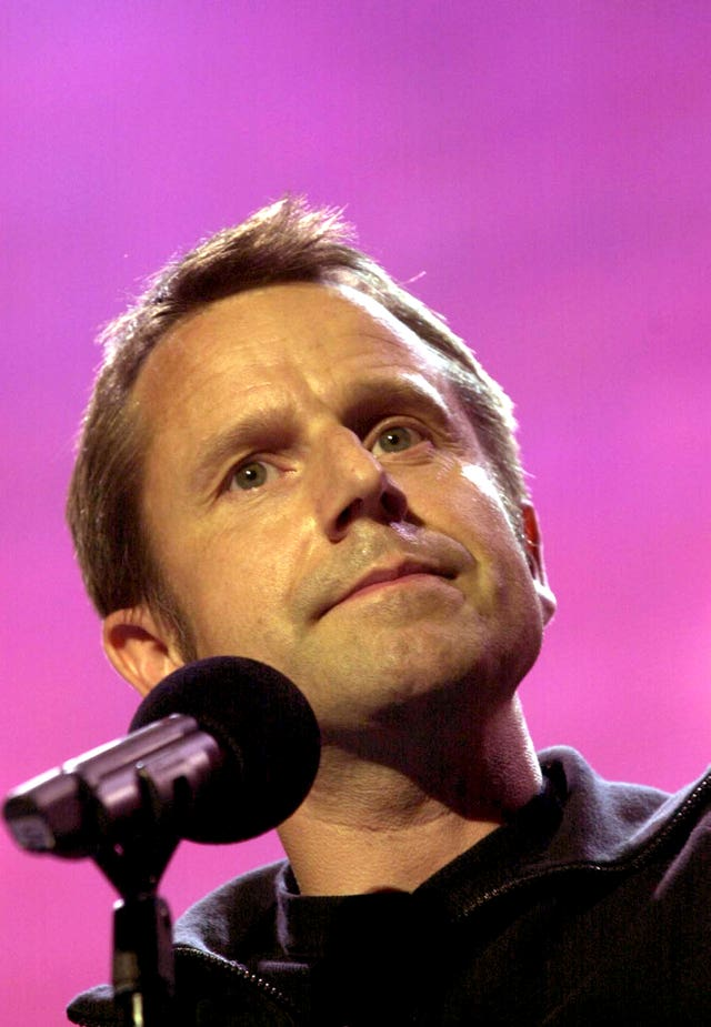 Jeremy Hardy performing on stage