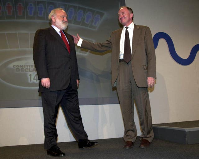 Independent candidate Ken Livingstone beat official Labour candidate Frank Dobson to win the mayoral election (Stefan Rousseau/PA)