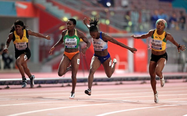 Dina Asher-Smith won the silver medal in Doha