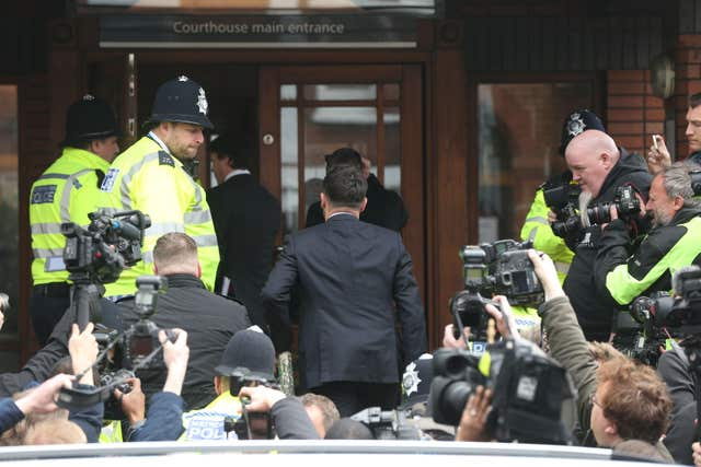 Anthony McPartlin arrives at court (Jonathan Brady/PA)