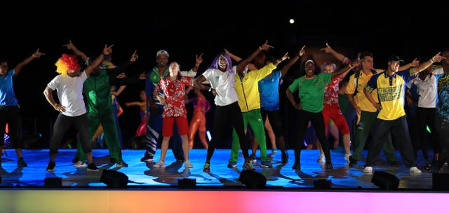 Gold coast gives birmingham a blueprint for vibrant games athletes dance on stage during the closing ceremony for the 2018 commonwealth games at the carrara malvernweather Image collections