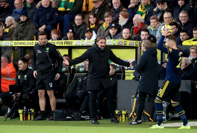 Daniel Farke was not sure about the decision to retake a penalty