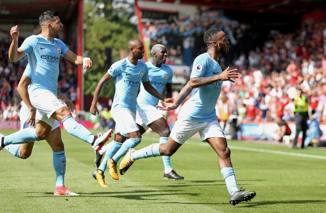 A dramatic winner away to Bournemouth in August 2017 teed up City's title win