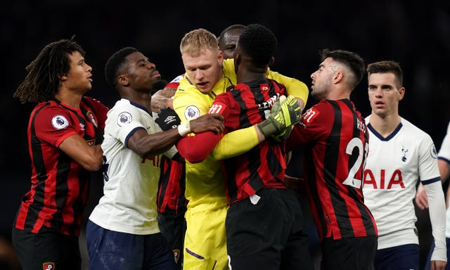 Tempers flared during Tottenham's 3-2 win over Bournemouth