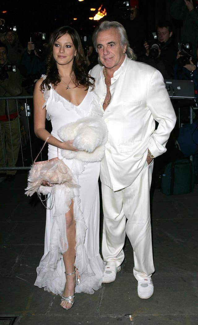 Peter Stringfellow and dancer Bella