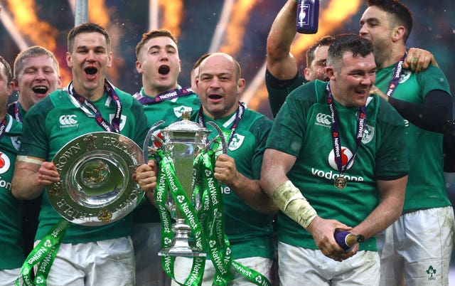 Ireland clinched a Six Nations Grand Slam at Twickenham in 2018