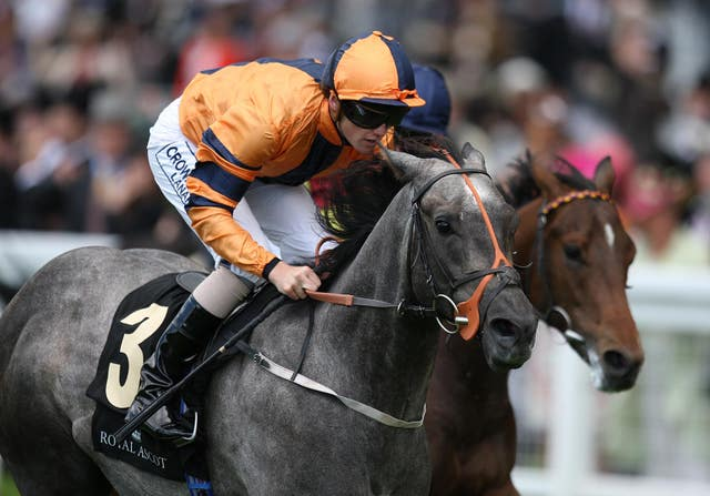 Bapak Chinta (nearside) gave Phillip Makin one of his best wins in the saddle in the Norfolk Stakes at Royal Ascot