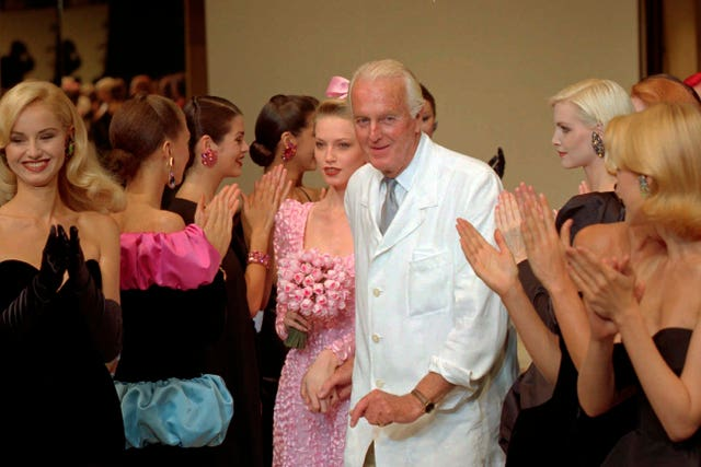 Givenchy retired in 1995 (AP)