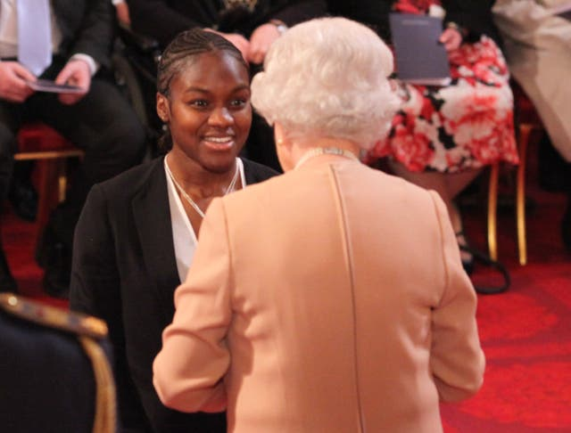 Adams received an MBE from the Queen in 2013