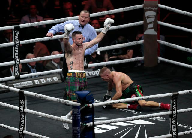 Josh Taylor (left) claimed the IBF world super-lightweight title when he defeated Ivan Baranchyk (right) in May