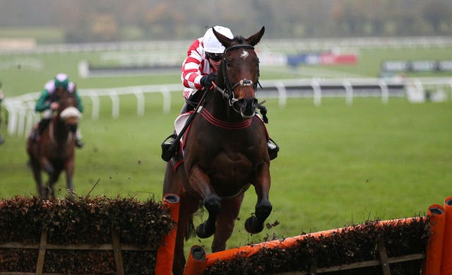 Hang In There, ridden by Adam Wedge, won the Sky Bet Supreme Trial Novices' Hurdle at Cheltenham