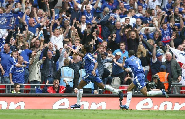 Drogba's extra-time goal against Manchester United in the 2007 final sealed Chelsea's fourth FA Cup win