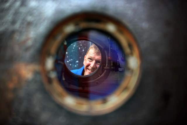 Major Peake said seeing the capsule brought back 'huge memories of the mission' (Jane Barlow/PA)