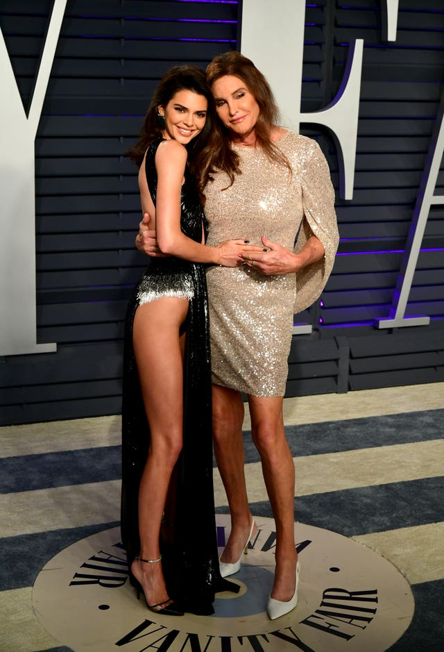 Kendall Jenner (left) with Caitlyn Jenner