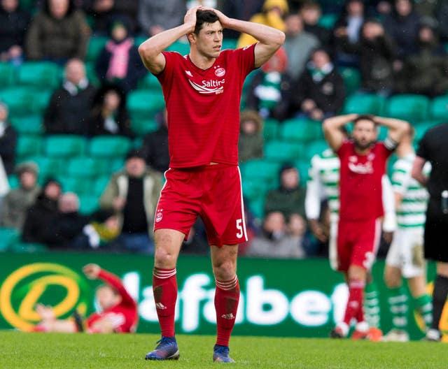 Scott McKenna played through injury for Aberdeen