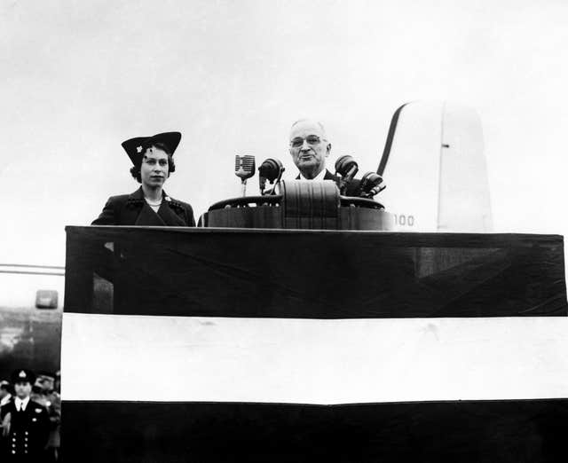 Princess Elizabeth and Harry Truman