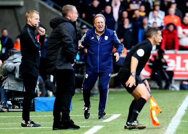 It was a frustrating afternoon for Neil Warnock at the Liberty Stadium