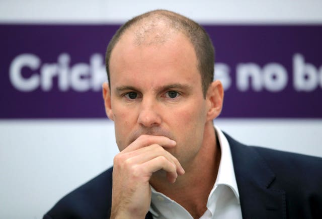 Giles is taking over from Andrew Strauss (pictured) at a critical time for the national side