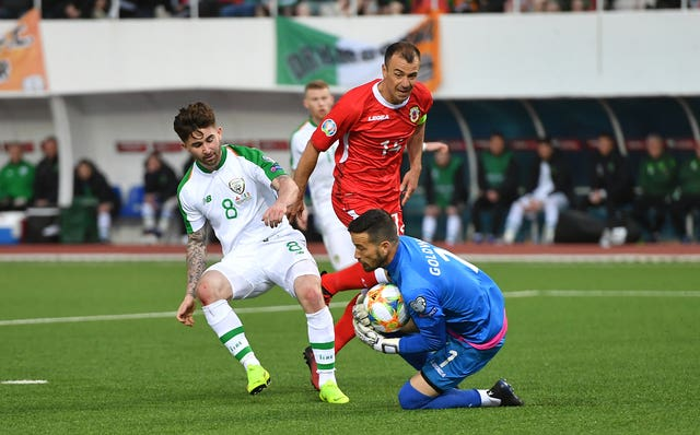 Sean Maguire in action against Gibraltar